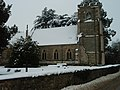Snow Cover On Hemington Church - geograph.org.uk - 1150358.jpg