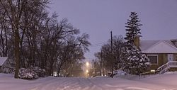 Snowy Winter Night, City of Robbinsdale, Minnesota (25291020434).jpg
