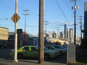 SoDo, Seattle - Seattle skyscrapers as viewed from SoDo
