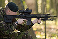 Soldier Demonstrates Sharpshooter L129A1 Rifle.jpg