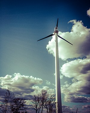 South Brooklyn Marine Terminal - Image: South Brooklyn Marine Terminal Wind Turbine