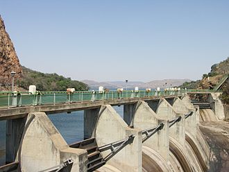 Hartbeespoort Dam - The crest gates added in 1970