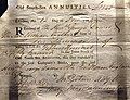 South Sea Annuities share certificate, issued November 13, 1784. On display at the British Museum in London.jpg