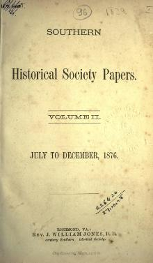 Southern Historical Society Papers volume 02.djvu