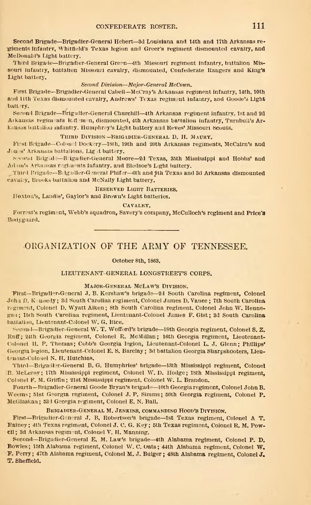 ... Colonel P. D. Bowles; 15th Alabama regiment, Colonel W. C. Oats; 44th Alabama  regiment, Colonel W. F. Perry; 47th Alabama regiment, Colonel M. J. Bulger  ...