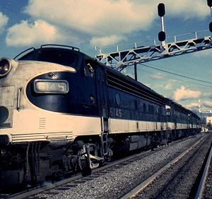 Piedmont Limited - EMD FP7s leading the Piedmont Limited in 1974.