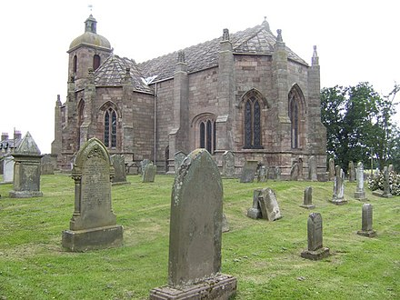 James IV ordered the Kirk of Steill to be built in 1500, for the Christian Jubilee, and to commemorate his rescue from the nearby river Tweed St. Mary's kirk, Ladykirk - geograph.org.uk - 499576.jpg