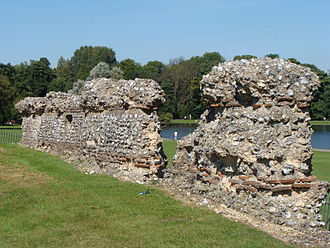 St Albans - Remains of Roman wall
