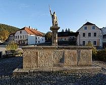 St Florian Fountain in Rožmberk (9505).jpg