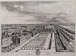 St James's Palace and The Mall Kip 1715.jpg