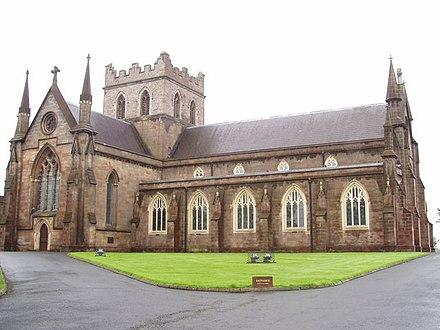 St Patrick's Cathedral, the seat of the Anglican Diocese of Armagh in the Church of Ireland St Patrick's Cathedral, Armagh - geograph.org.uk - 528966.jpg