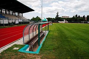 "Santarcangelo Calcio -  A view from the field of ""Valentino Mazzola"""