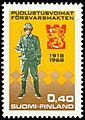 Stamp 1968- Finnish army 50 years.jpg
