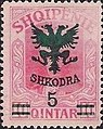 Stamp of Albania - 1920 - Colnect 337768 - Unissued portrait of Prince zu Wied surcharged in green.jpeg