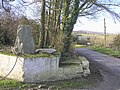 Standing stone at Rylands - geograph.org.uk - 125461.jpg