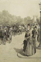 Na paryskim bulwarze. Maria Chełmońska na Champs-Élysées