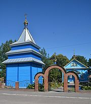 Stara Vyzhva Bell Tower of Transfiguration Church (wooden) 01 (YDS 5568).jpg