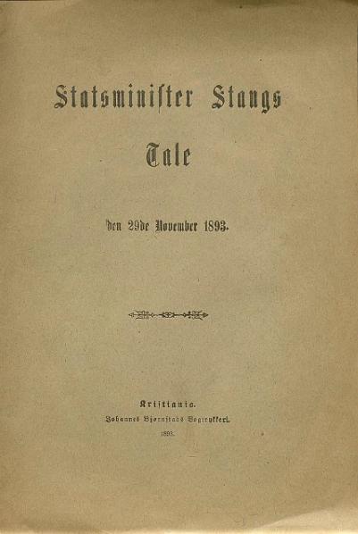 File:Statsminister Stangs Tale 1893-11-29.djvu