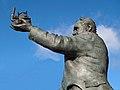 Statue of George Stephenson outside Chesterfield Railway station.jpg