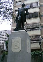 Statue of Juan Crisóstomo Falcón in Caracas.jpg