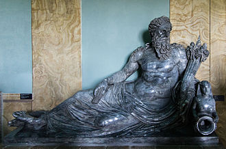 Vatican Museums - Statue of the Nile recumbent 1st-2nd Century AD, from Rome Museo Gregoriano Egiziano