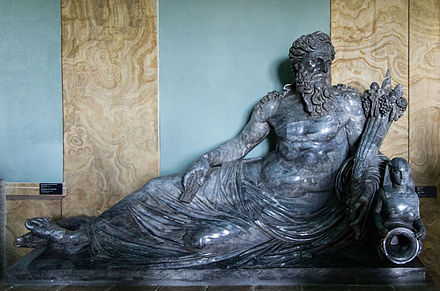 Statue of the Nile recumbent 1st-2nd Century AD, from Rome Gregoriano Egiziano Museum Statue of the Nile recumbent.jpg