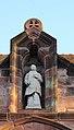 Statue over door of St Stephen's church, Prenton.jpg