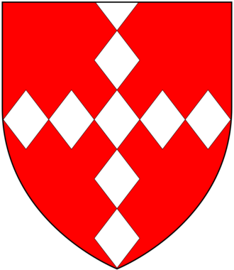 John Stawell - Arms of Stawell: Gules, a cross lozengy argent