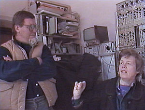 ART/MEDIA - Steina and Woody Vasulka, who video documented ART/MEDIA, speaking in their studio on the role of art in contemporary society. 1986