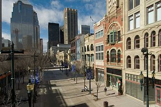 Downtown Calgary - Stephen Avenue is a pedestrian mall located in the commercial core's entertainment district.