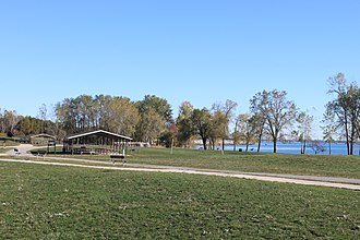 Sterling State Park - Picnic area adjacent to Lake Erie