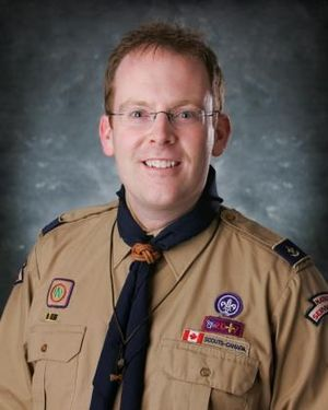 Steve Kent (politician) - Kent volunteering with Scouts Canada