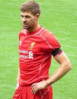 Steven Gerrard, 2014 (cropped)