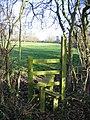 Stile behind Lea Newbold Farm - geograph.org.uk - 327196.jpg