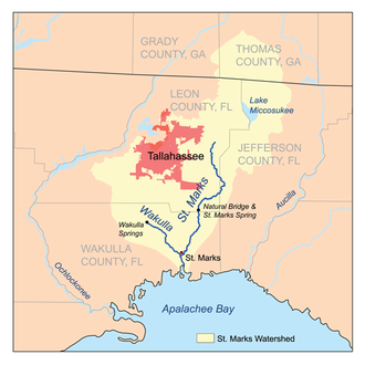 St. Marks River - Image: Stmarksrivermap
