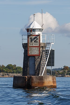 "Gustaf Dalén - The AGA lighthouse ""Blockhusudden"" close to Stockholm, initially set up in 1912. When the lighthouse was electrified in 1980 it was discovered that the sun valve had been working continuously since 1912 without the need for an overhaul."
