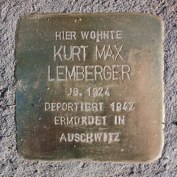 File:Stolperstein-Schwäbisch Gmünd-Kurt Max Lemberger.jpg