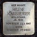 Stolperstein Duisburger Str 2a (Wilmd) Helene Königsberger.jpg