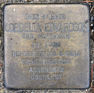 Cordelia Edvardson German-born Swedish journalist, author and Holocaust survivor