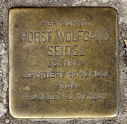 Photo of Horst Wolfgang Seidel brass plaque