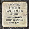 Stolperstein Leopold Fassbender, Ehrenfeldgürtel 136, Köln-Neuehrenfeld-6143.jpg