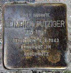 Photo of Heinrich Putziger brass plaque