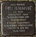 Stolperstein Solingen Eichenstr. 22 Fritz Bergmann.jpg