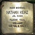 Stolperstein Stierstr 4 (Friedn) Nathan Kerz.jpg