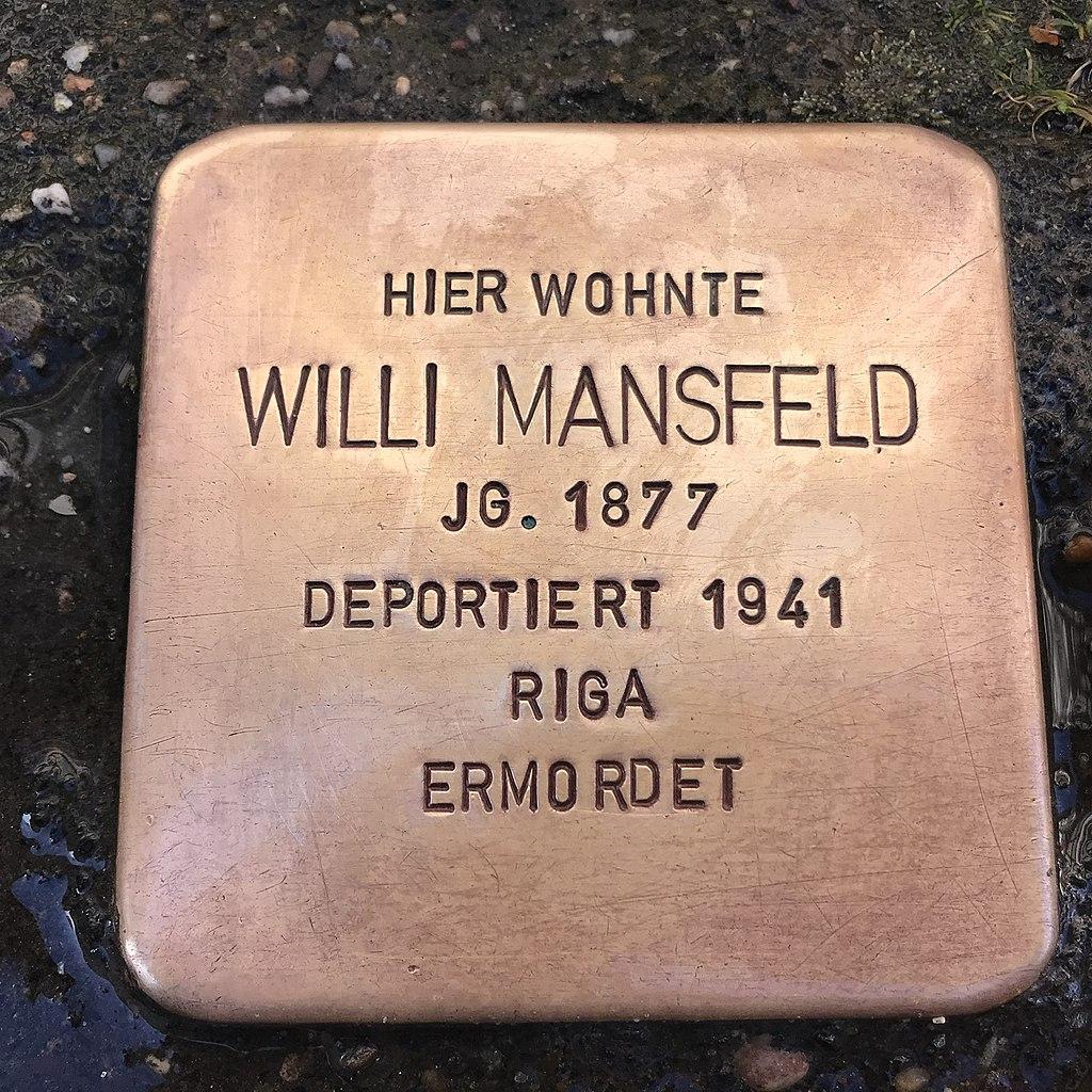 Stolperstein Willi Mansfeld in Lüchow (Wendland).jpg