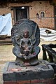 Stone statue at Changunarayan temple.jpg