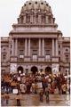 Stop Met-Ed rally on the Capitol steps. Harrisburg, Pennsylvania - NARA - 540015.tif