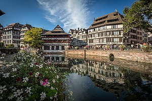 Petite France, Strasbourg - The Maison des Tanneurs and Place Benjamin-Zix in the heart of the quarter
