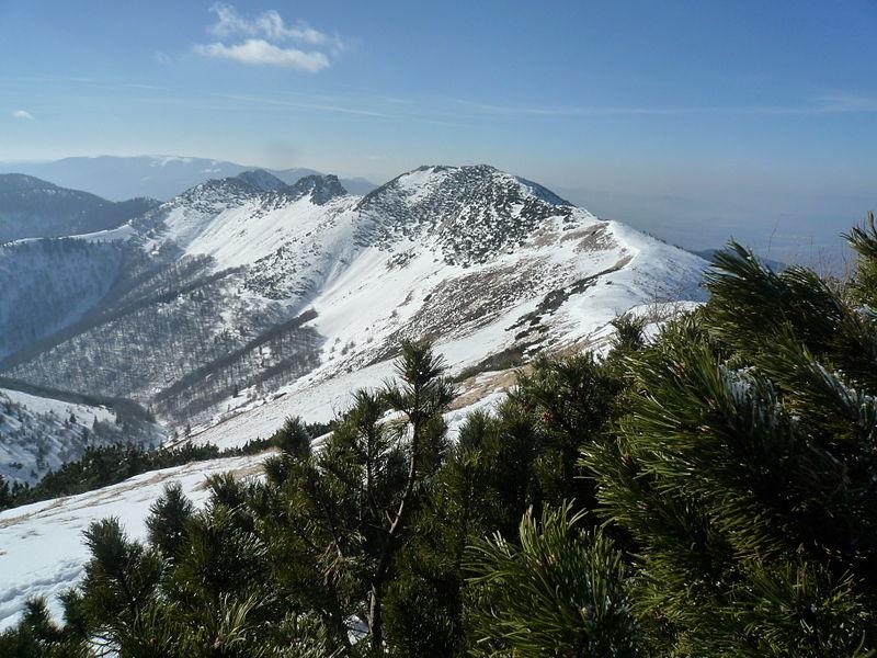 Mountain ridge — Malá Fatra National Park, Žilina Region, northern Slovakia.