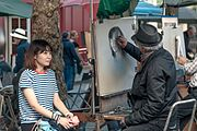 Street artist on the Place du Tertre, 29 September 2016.jpg